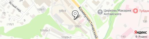 Магазин-склад автозапчастей для Renault на карте Горно-Алтайска