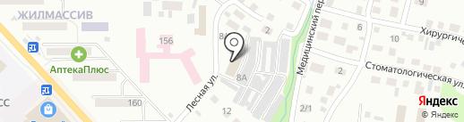 Главная дорога на карте Горно-Алтайска