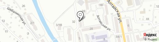 Алтайский поисково-спасательный отряд МЧС России на карте Горно-Алтайска