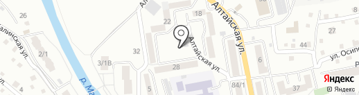 Аленка на карте Горно-Алтайска