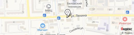Пятёрочка на карте Гурьевска