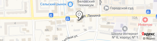 Клевер на карте Гурьевска