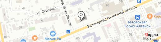 Республиканский классический лицей Республики Алтай на карте Горно-Алтайска