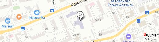 Лицей №6 им. И.З. Шуклина на карте Горно-Алтайска