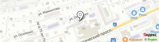 Детский сад №4, Медвежонок на карте Горно-Алтайска