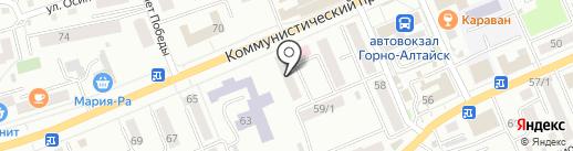 Ростелеком на карте Горно-Алтайска