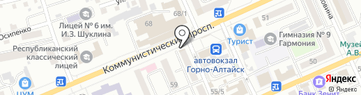 Компания по заказу спецтехники на карте Горно-Алтайска