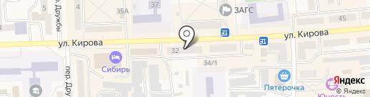 Знамёнка на карте Гурьевска