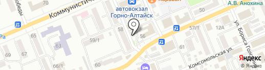 Горно-Алтайское на карте Горно-Алтайска