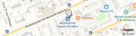 Магазин мороженого на карте Горно-Алтайска