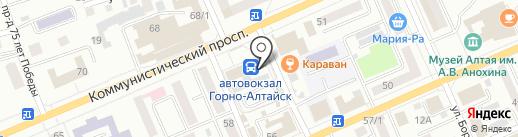Стационарный пост полиции на карте Горно-Алтайска