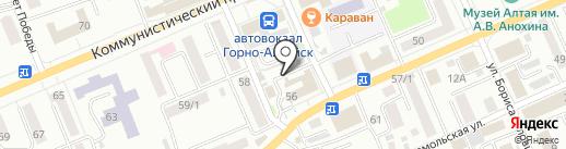 Лига на карте Горно-Алтайска