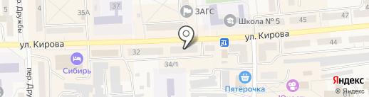 Антошка на карте Гурьевска