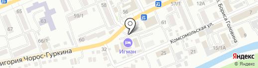 Алтайский марал на карте Горно-Алтайска
