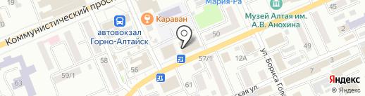 Родник Геликон на карте Горно-Алтайска