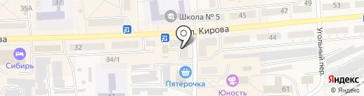 Лёвушка на карте Гурьевска