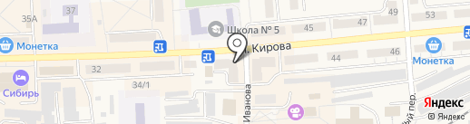 Мариинский на карте Гурьевска
