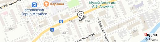 Банкомат, Банк Зенит на карте Горно-Алтайска