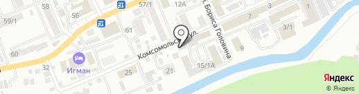 Чемодан на карте Горно-Алтайска