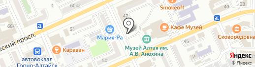 Банкомат, Банк Воронеж на карте Горно-Алтайска