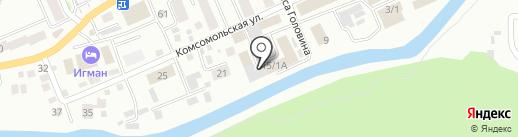 Автокомплекс на карте Горно-Алтайска