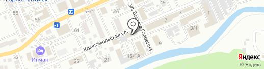 Апрель на карте Горно-Алтайска