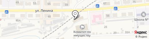 Самара на карте Гурьевска