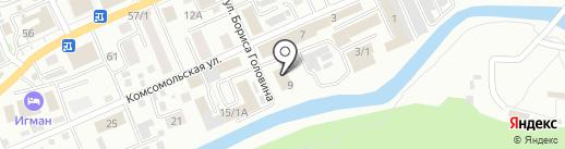 Эдванс на карте Горно-Алтайска