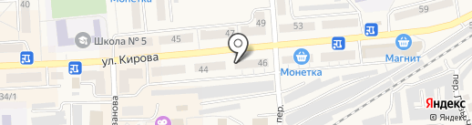 Тюль-Пан на карте Гурьевска