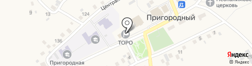Территориальный организационно-распорядительный орган на карте Пригородного