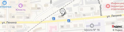 Пожарная часть №3 на карте Гурьевска