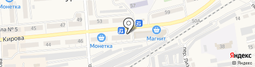 Лонда на карте Гурьевска