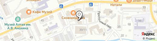 Жара на карте Горно-Алтайска