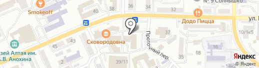 Андрей на карте Горно-Алтайска