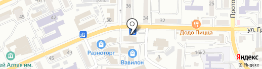 Зелёный Сад на карте Горно-Алтайска