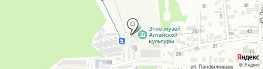 Хмельной Скворец на карте Горно-Алтайска