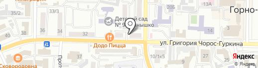 Аилтур на карте Горно-Алтайска