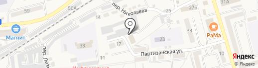 Сосновское, ПО на карте Гурьевска