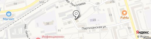 Сосновское на карте Гурьевска