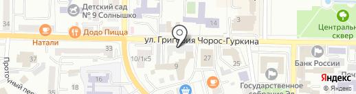 Спарк на карте Горно-Алтайска