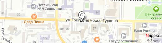 Маршрут и отдых на карте Горно-Алтайска