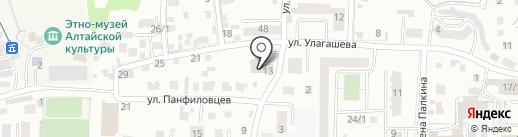 Рессельхозводстрой на карте Горно-Алтайска