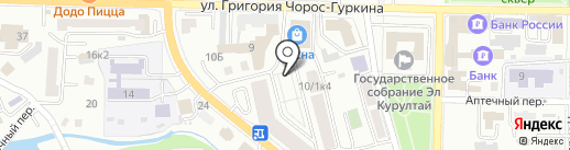 Мясной магазин на карте Горно-Алтайска