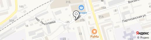Магазин строительных и отделочных материалов на карте Гурьевска