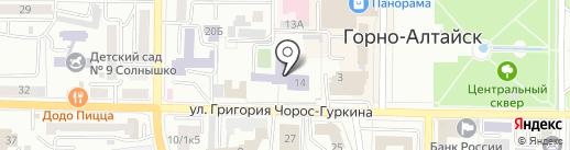 Средняя общеобразовательная школа №1 на карте Горно-Алтайска