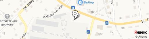 АЗС Салют на карте Гурьевска