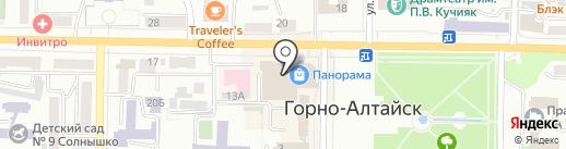 Панорама на карте Горно-Алтайска