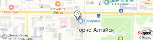 Финтерра на карте Горно-Алтайска