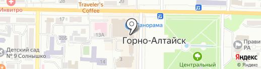 Амбар Холл на карте Горно-Алтайска