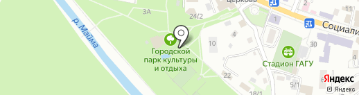 Радужный на карте Горно-Алтайска
